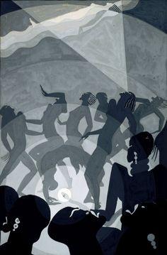 thunderstruck9: Aaron Douglas (American, 1899-1979), Congo, c.1928. Gouache and pencil on paperboard. via inland-delta