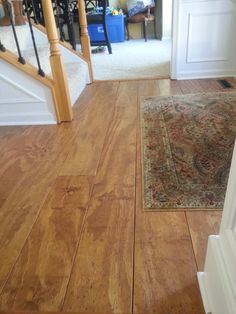 Great tutorial on Pine Plywood floors-I want this in my entryway