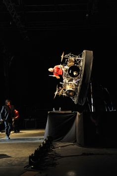 The always-amazing vertical spinning Newsboys drum set! Saw this live and it was bad to the bone!