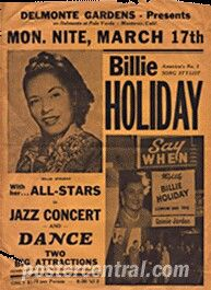 Vintage concert posters by The Beatles, Bob Dylan, Billie Holiday, Elvis and