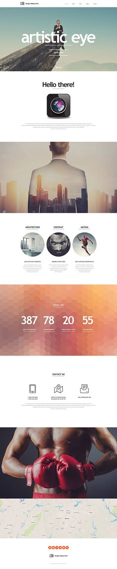 Photographer's Personal Portfolio #website #template. #themes #business #responsive #websitethemes