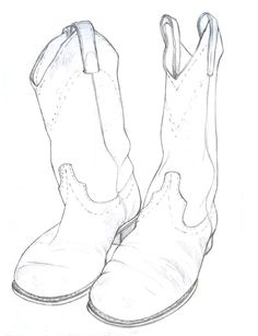 Cowboy Boots Drawing | The Art of Kelsey M. Adams