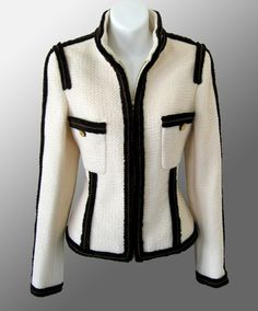 09A-ChanelBlkTrimIvryBclJckt Love this Jacket