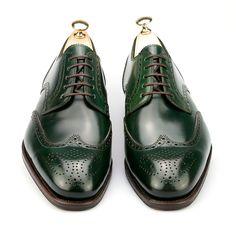 ZAPATOS BLUCHER PUNTERA VEGA EN SHELL CORDOVAN VERDE, CARMINA - Carmina Shoemaker