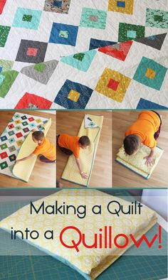 How to Make a Quilt into a Quillow at cluck cluck Sew
