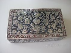 Antiques Atlas - Antique Indian Solid Silver Rectangular Box