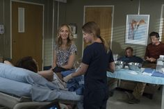 """Megan, Teddy, Meredith, Owen and Nathan in Grey's Anatomy 14x01 """"Break Down the House"""""""