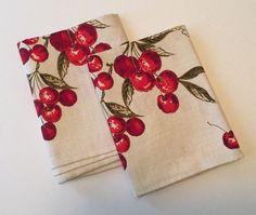 Cherries!!! :)  Vintage Dish Kitchen Towels Cherries | eBay  ~~~SOLD~~~