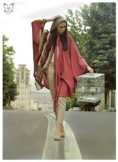 Iran fashion - Her outfit! I need it for this summer.. And she has birds! So cute :)