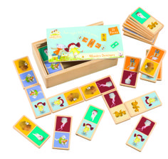 Abney & Teal  Wooden Dominoes  (c) {Rainbow Designs Ltd}. all rights reserved