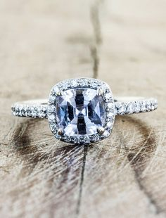 Gorgeous!! Unique Custom Sapphire Engagement Rings by Ken & Dana Design - Serena top view