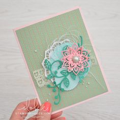 Stampin' Dolce: It's all about the details \ Flourish Thinlits - Fancy Friday Blog Hop