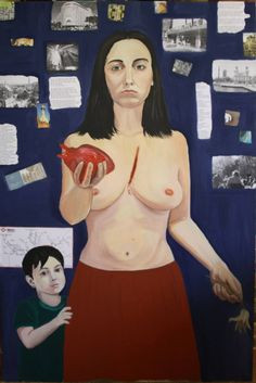 """Stefania Ormas. """"No tengo más nada que darte"""". Obra seleccionada para la acción reivindicativa """"Yo expongo en el Reina"""" organizada por el Colectivo """"Yo expongo"""".  http://www.saatchionline.com/art/Painting-Acrylic-no-tengo-mas-nada-que-darte/41239/1558284/view"""