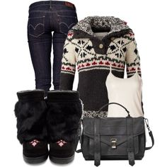 """""""Mukluk Comfort"""" by christina-young on Polyvore"""