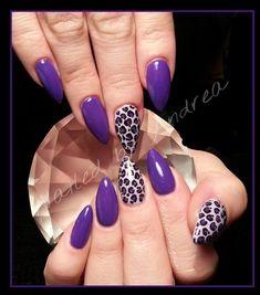 purple leopard by NailedAgain - Nail Art Gallery nailartgallery.nailsmag.com by Nails Magazine www.nailsmag.com #nailart