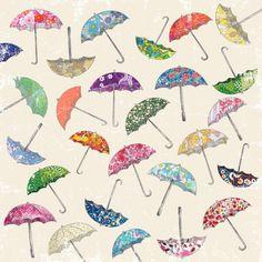 Pretty  Umbrella & umbrellas Art Print  http://society6.com/SofAndrade/Umbrella--umbrellas_Print#