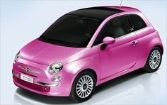 Mattel's Barbie doll is celebrating its anniversary. In Milan, where this year's fashion shows are in progress, Fiat rolled out a Barbie version of its 500 city car on Monday. Fiat Cinquecento, Fiat 500c, Fiat 500 2012, My Dream Car, Dream Cars, Fiat 500 For Sale, Logo Audi, Sedan Audi, Rs6 Audi