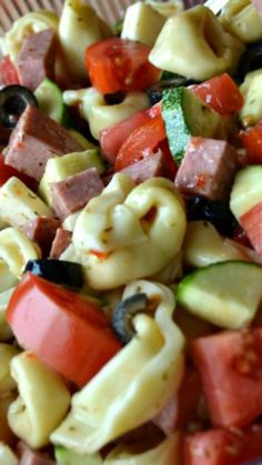 Summer Pasta Salad ~ This recipe is very versatile. Use whatever vegetables you have ready in your garden.