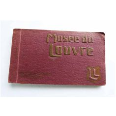 Antique Musee Du Louvre Postcard Book by LL. 20 Sepia Toned Photo... (€69) ❤ liked on Polyvore featuring home, home decor and stationery