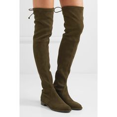 Stuart Weitzman Lowland stretch-suede over-the-knee boots ($860) ❤ liked on Polyvore featuring shoes, boots, stuart weitzman over the knee boots, slip on boots, stretch over the knee boots, stuart weitzman boots and suede slouch boots