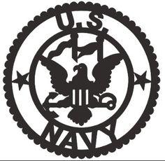 Navy Emblem Applique by KathrynsKollections on Etsy (monogram wall decorations pillows) Cricut Vinyl, Vinyl Art, Vinyl Decals, Cricut Air, Silhouette Cameo Vinyl, Silhouette Design, Navy Emblem, Wood Burning Stencils, Shrink Art