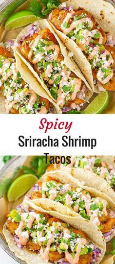 Spicy Sriracha Shrimp Tacos