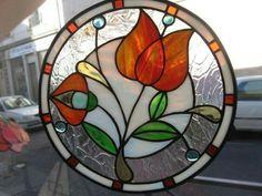 Stained Glass Art Nouveau floral