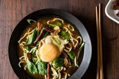 Bacon & Egg Ramen by food52 #Ramen #Eggs