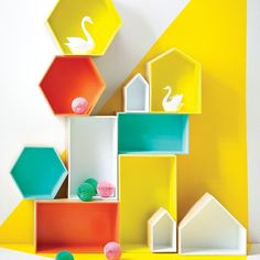 Wall hung/free standing hexagon display box PRE ORDER FOR APRIL   Collected by LeeAnn Yare Wooden Box Shelves, Wooden Boxes, Stackable Storage Boxes, Display Boxes, Display Shelves, Diy Shelving, Hexagon Box, Guest Toilet, Contemporary Style