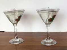 Martini Glass Gel Candle Set by JackiesCraftDesign on Etsy