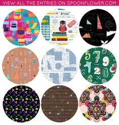 Vote for Your Favorite Math Fabrics!
