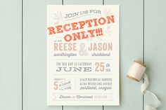 How to word reception-only wedding invitations.
