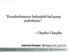 Puisi pendek. Kumpulan puisi. Charles Chaplin.