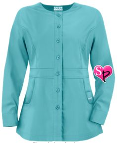 Butter-Soft Scrubs by UA™ Ladies Button Front Warm-Up Jacket Style # PC86C New…