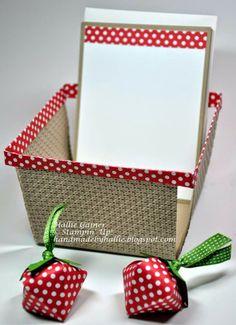 Stampin' Up! - Berry Basket with Strawberry Boxes!! http://handmadebyhallie.blogspot.com/2014/04/got-berries.html