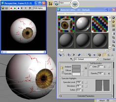Texturing Eye in 3DS Max, 3DS Max Tutorials, submitted to pinterest.com from http://vfxconsultancy.com/tutorials/animation-tutorials/max/texturing/tutor/5.html