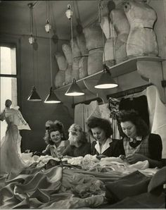 Paris dressmakers & dress forms, 1946 Photo by Nina Leen.