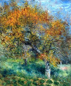 Le Poirier Painting by Pierre Auguste Renoir Reproduction Art Gallery, Art Painting, Landscape Paintings, Art Photography, Renoir Paintings, Painting, Beautiful Paintings, Renoir Art, Art