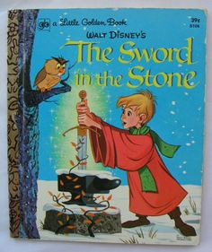 Sword In The Stone, Vintage Little Golden Book, Walt Disney, Second Printing 1973. by TheVintageRead