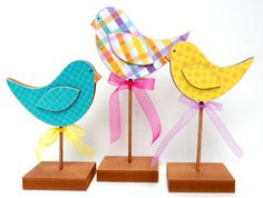 Bird Trio Stands by SweetPickleDesignsCo on Etsy, $18.00