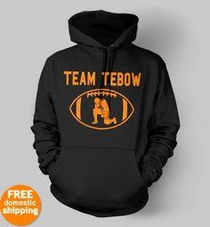 Tim Tebow Denver Broncos Team Tebow Hoodie orange dsgn navy hooded sweatshirt