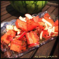 Melonen-Radieschen-Salat, Watermelon-radish-salad