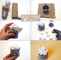 matrimonio handmade - tutorial bomboniere fai da te country chic