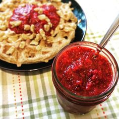 I've been into banana oat waffles and pancakes lately and wishing I had some kind of a jam-like option. Then, magically this chia seed jam recipe came across my feed. Jam Recipes, Side Recipes, Italian Recipes, Dessert Recipes, Chia Seed Jam Recipe, Bright Line Eating Recipes, Banana Oats, Bright Kitchens, 2 Ingredients