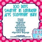 This is a scavenger hunt for a Language Arts celebration of the 100th day of school.    Students will find 10 of each of the following: common noun...