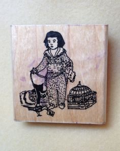 Museum Stamps, rubber stamp, fine art, Goya, Don Manuel Osorio by Kissins on Etsy
