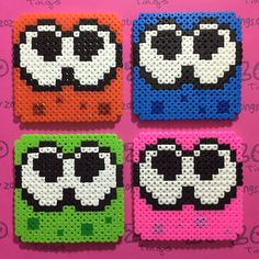 Splatoon coaster set hama beads by Zo Zo Tings                                                                                                                                                                                 More