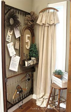 Bed Springs & Hanger Curtain