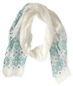 Embroidered Scarf from Aeropostale