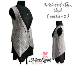 Crochet pointed hem vest (version 2)